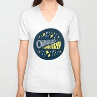 onward V-neck T-shirts featuring Onward by J. Zachary Keenan