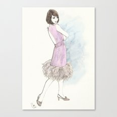 'Abby' Watercolor Fashion Illustration Canvas Print