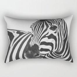 The Thoughtful Zebra Rectangular Pillow