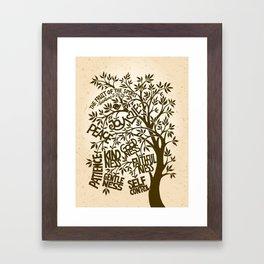 Fruit of the Spirit (Monotone) Framed Art Print