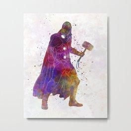 Thor 01 in watercolor Metal Print