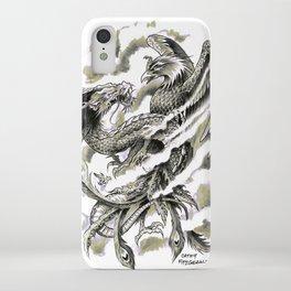 Dragon Phoenix Tattoo Art Print iPhone Case