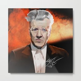 Mr. Eraserhead Metal Print