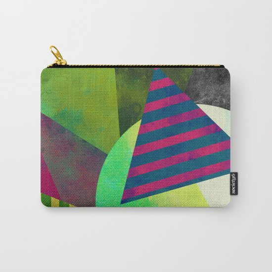 Textured Shapes - Abstract, geometric artwork Carry-All Pouch