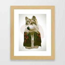 wolf jacket Framed Art Print