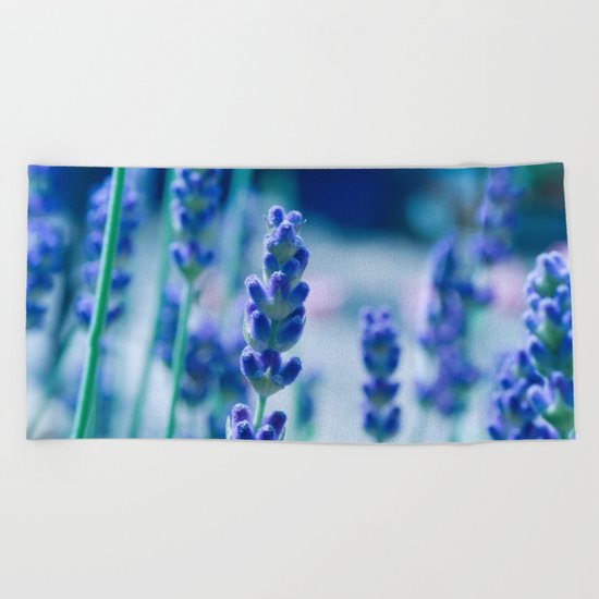 A Touch of blue - Lavender #1 Beach Towel