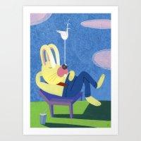 Spring Snooze Art Print