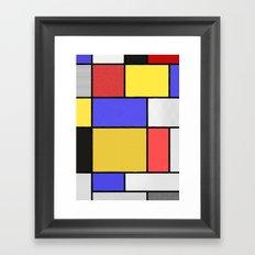 Piet Mondrian Patterns Framed Art Print