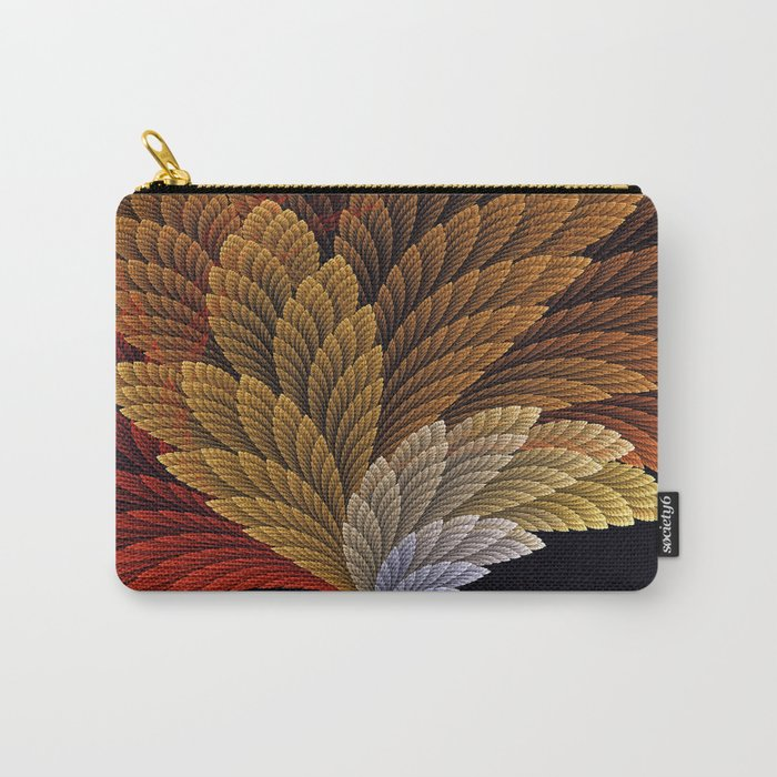 Decorative featherly pattern fan Carry-All Pouch