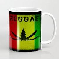 reggae Mugs featuring REGGAE by shannon's art space