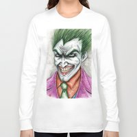 joker Long Sleeve T-shirts featuring Joker by rchaem