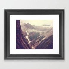 Alaska mountains - Tracy Arm Framed Art Print