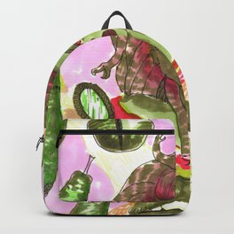 medusa horror pattern Backpack