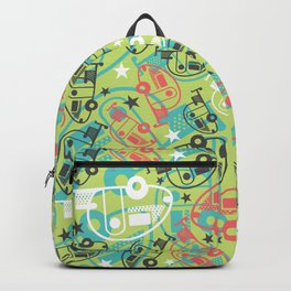 Retro Green Tab Trailers Backpack