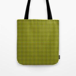 Mini Black and Bright Yellow Cowboy Buffalo Check Tote Bag