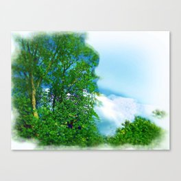 Air Brushed Skyscape Canvas Print