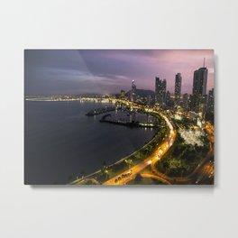Panama City at Dusk Metal Print