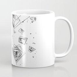 Mountain Vertices, Mt. Shasta, Black Geometric Coffee Mug