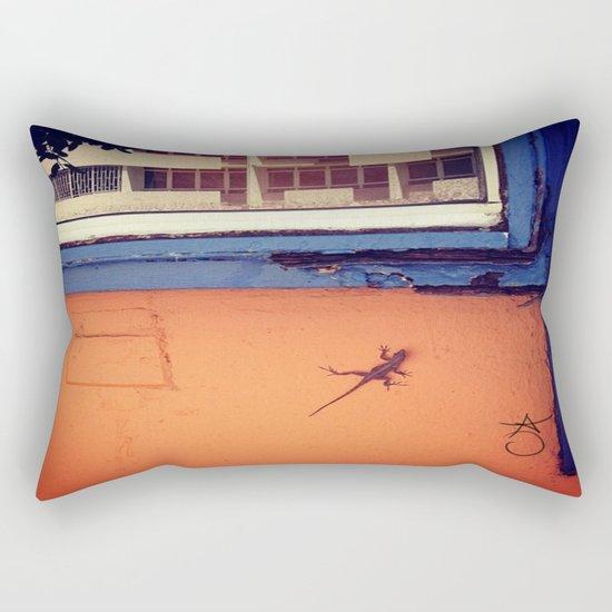 Lizard in Puerto Rico Rectangular Pillow