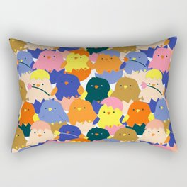 Colored Baby Chickens pattern Rectangular Pillow