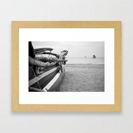 Fishing Boat, Sri Lanka Framed Art Print
