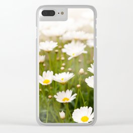 White herb camomiles clump Clear iPhone Case
