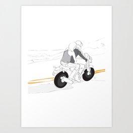 Travel Motorcycle Couple Art Print