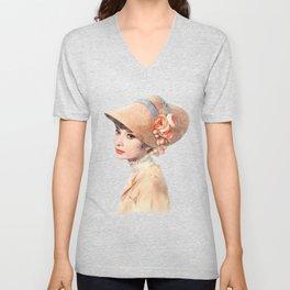 Audrey Hepburn - Eliza Doolittle - Watercolor Unisex V-Neck