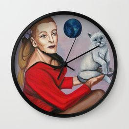 Yeoman Martha and Cat Wall Clock