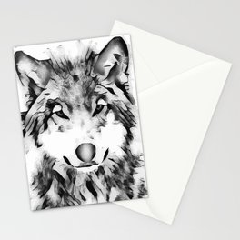 Watercolor Wolf Stationery Cards