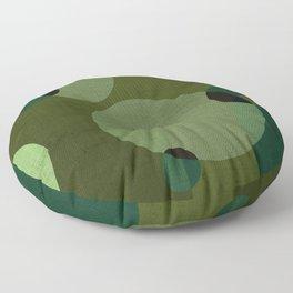 """""""Retro Green Super Dots"""" Floor Pillow"""