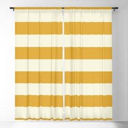 Yellow Stripes Bold Blackout Curtain