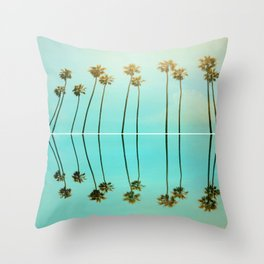Palm Reflections Throw Pillow