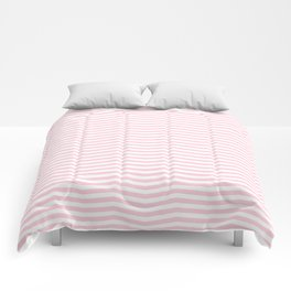 Light Soft Pastel Pink and White Chevron Comforters