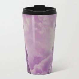 Lady Bonehead VINTAGE PURPLE / Skeleton portrait Travel Mug