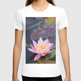 Pink water lily flower T-shirt