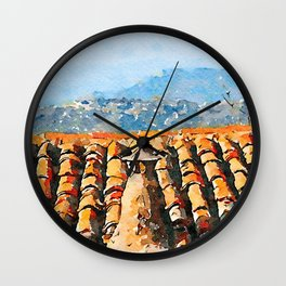 Roof with chimney pot Wall Clock