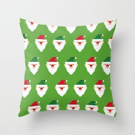 Christmas Santa Clause Wallpaper Christmas Pattern Throw Pillow