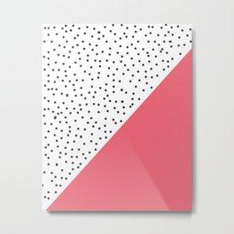 Geometric grey and pink design Metal Print