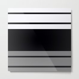 Team Colors 9...Black, white and gray Metal Print