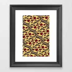 pattern pizza Framed Art Print