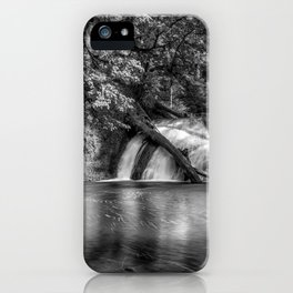Lower North Falls BW iPhone Case