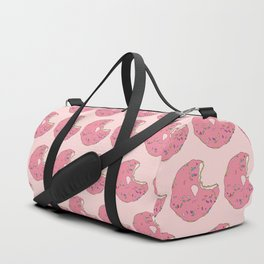 Pink Sprinkled Donut Duffle Bag