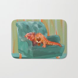 animals in chairs #5 the Pangolin Bath Mat