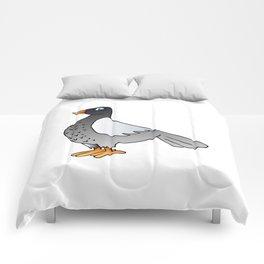 cartoon pigeon. Comforters