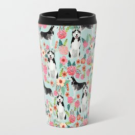 Husky dog breed must have gifts for dog person husky owner presents Travel Mug