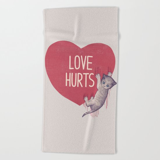 Love Hurts Beach Towel