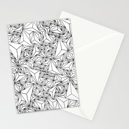 Triangle Grid  Stationery Cards