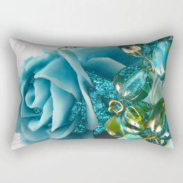 Sleeping Beauty Blue Rose Fantasy Jewelry Art Rectangular Pillow