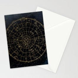 Golden Star Map Stationery Cards